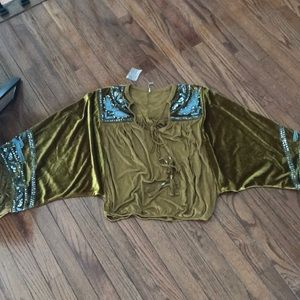 Free people glam sweater blouse